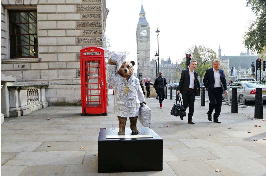 """""""Good News Bear"""", a versão do Paddington Bear do diário The Telegraph"""