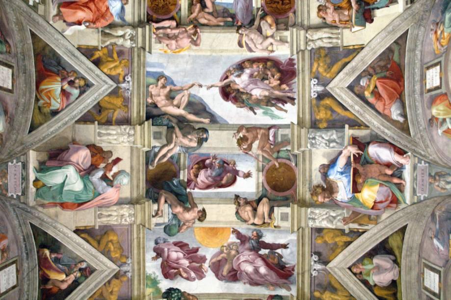 Teto da Capela Sistina, no Vaticano