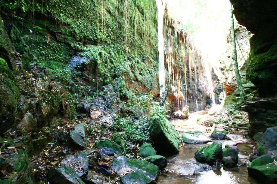 Localizada na região do Jalapão, no Tocantins, a Gruta de Suçuapara possui 60 metros de comprimento e 15 metros de altura aberta pela água,em rocha arenítica, iluminada pelo sol
