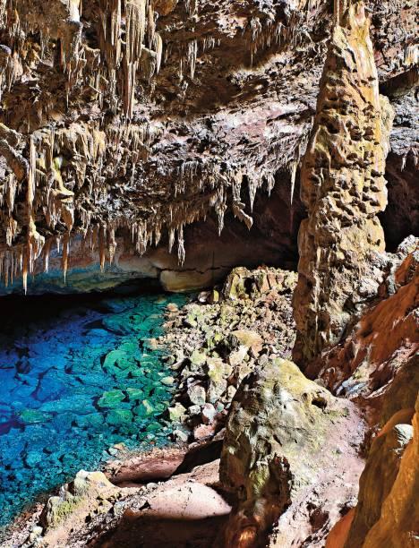 A famosa <strong>Gruta do Lago Azul</strong>, atração maior de Bonito, Mato Grosso do Sul
