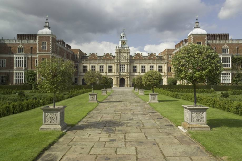 Fachada da Hatfield House - Hertfordshire - Inglaterra