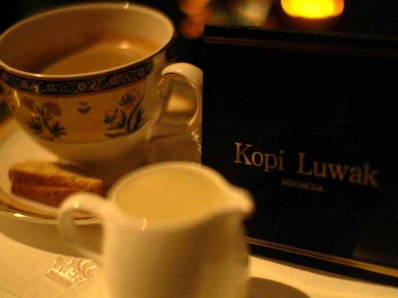 """<strong>Café Kopi Luwak</strong>Este é para os amantes do cafezinho da tarde. O <em>kopi luwak </em>é um raríssimo e aromático café, praticamente livre de sabores amargos. Os grãos são os mesmos das plantações da ilha de Java, na <a href=""""http://viajeaqui.abril.com.br/paises/indonesia"""" rel=""""Indonésia"""" target=""""_blank"""">Indonésia</a>, mas seu segredo é passar por um processo especial de fermentação que dura um dia. O problema (ou seria solução?) é que isso se passa no sistema digestivo da civeta (<em>Paradoxurus hermaphroditus</em>), um pequeno mamífero carnívoro, cujas enzimas provocam felizes alterações nas sementes. Isso significa que é preciso colher as fezes do bichinho e lavar o grão do café antes de torrá-lo. Se tiver estômago para encarar, prepare o bolso: um quilo pode chegar aos US$ 7 mil.Ou seja, continue feliz e cool com seus sachês de espresso especiais."""