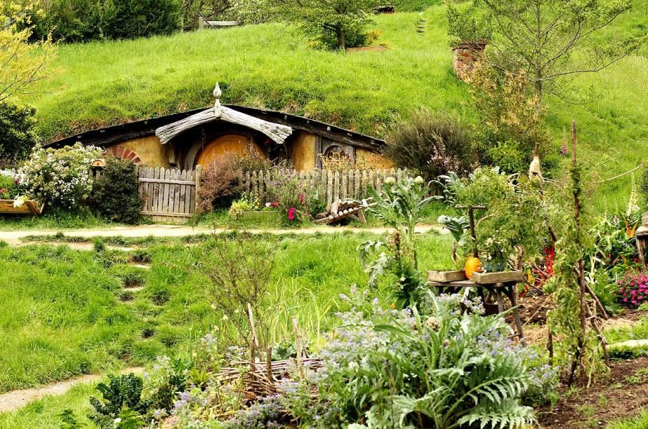 A vila Hobbiton foi construída na fazenda da família Alexander, em Matata, na Nova Zelândia