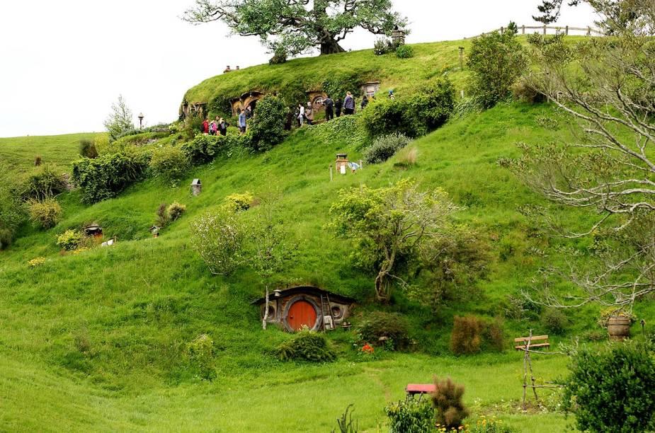 A vila Hobbiton foi construída na fazenda da família Alexander, em Matata, na Nova Zelândia4