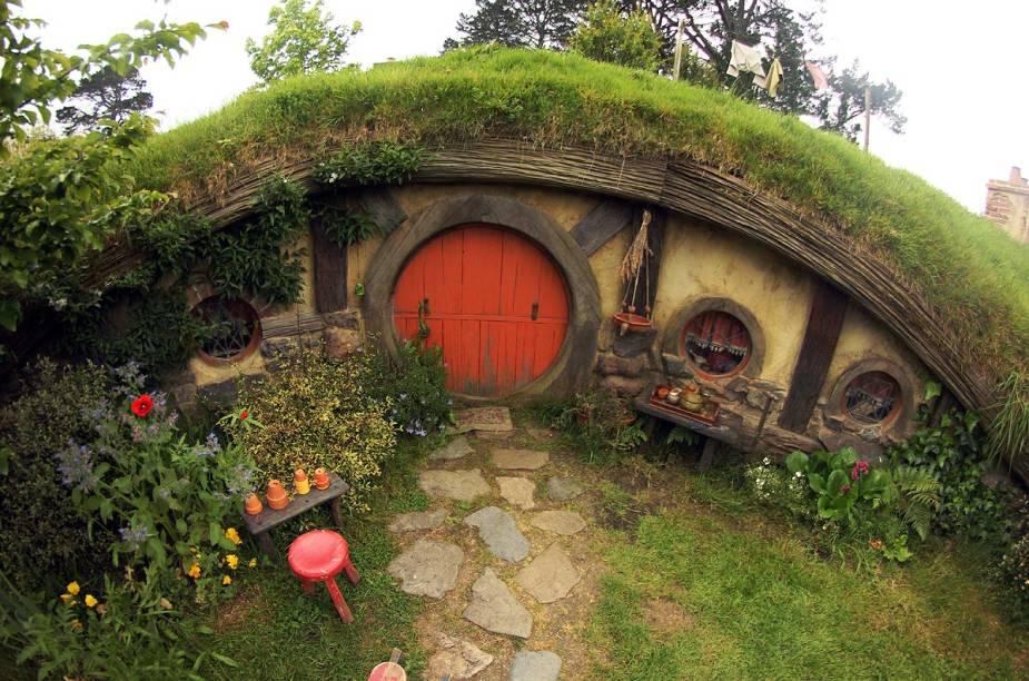 Hobbiton tem 44 casinhas construídas em diferentes tamanhos e proporções