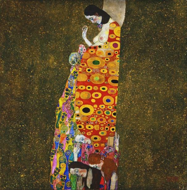 Hope II (detalhe), Gustav Klimt, no MoMA de Nova York