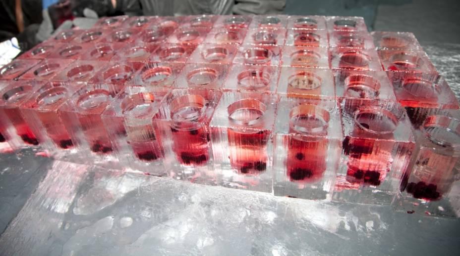 Como é de se esperar, os drinks do Absolut Bar são todos on the rocks, ou melhor, os próprios copos são feitos de gelo