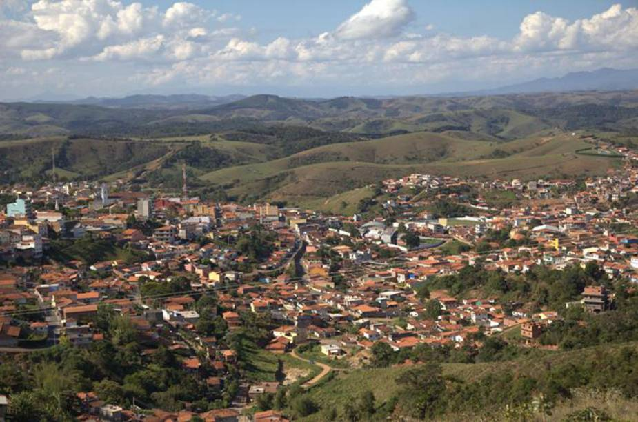 Área urbana de Cunha, que concentra a maioria dos ateliês de cerâmica