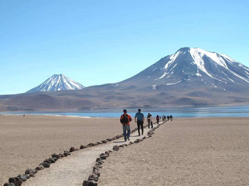 Laguna Miscanti, no deserto do Atacama, norte do Chile