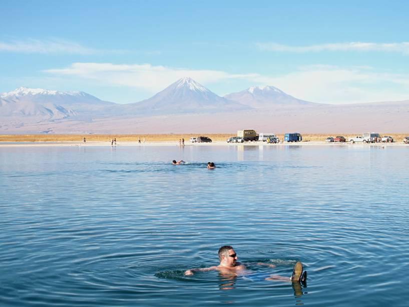 Laguna Cejar, no deserto do Atacama, norte do Chile