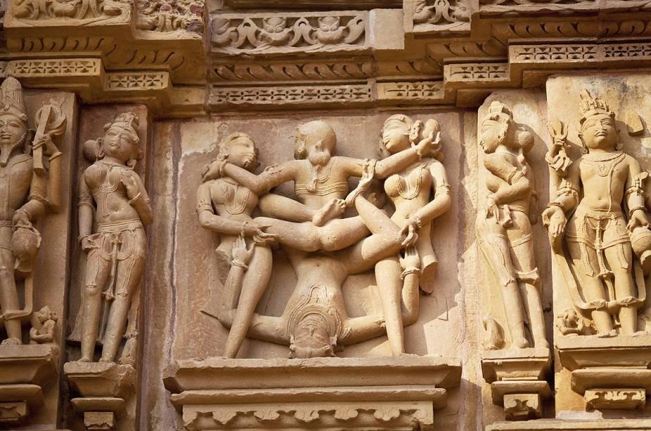 Dos 85 templos erguidos pelos seguidores do tantrismo em Khajuraho, restam 22