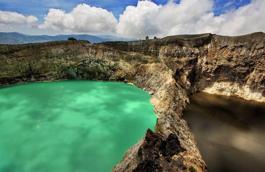Vulcão Kelimutu, na Ilha Flores