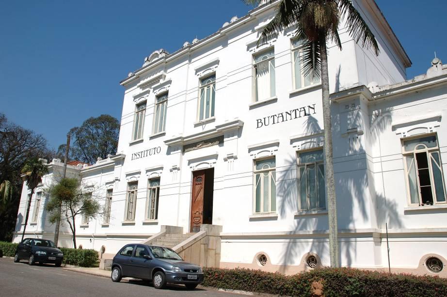 Fachada doInstituto Butantan, em São Paulo