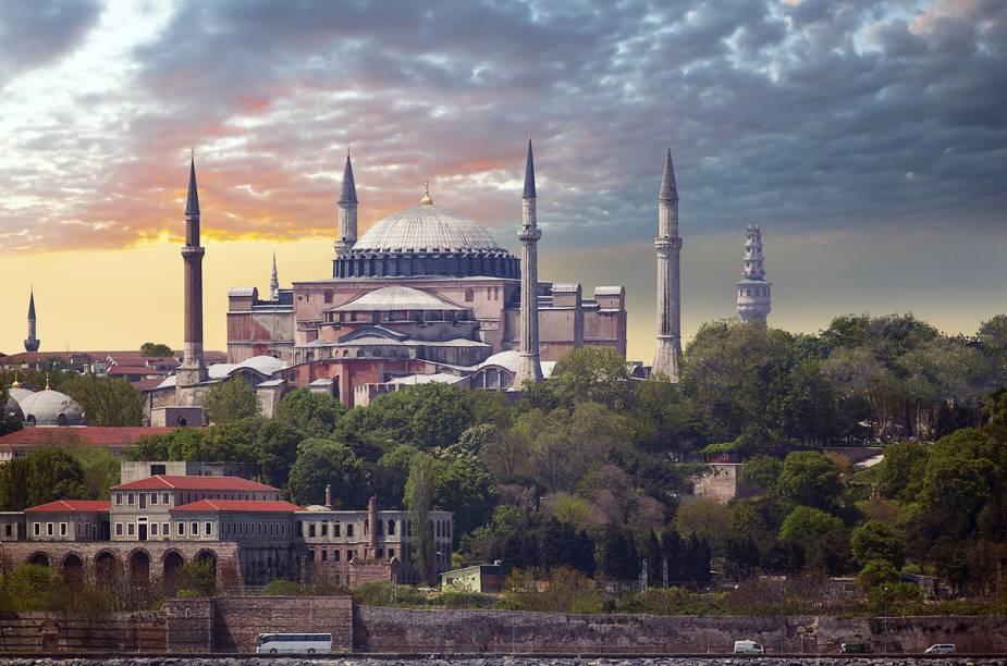 Entre as atrações do tour gratuito, está o Museu Hagia Sophia, ou Santa Sofia