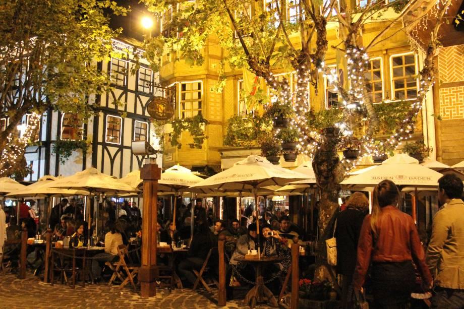 Externa do bar Baden Baden, em Campos do Jordão - que lota no inverno
