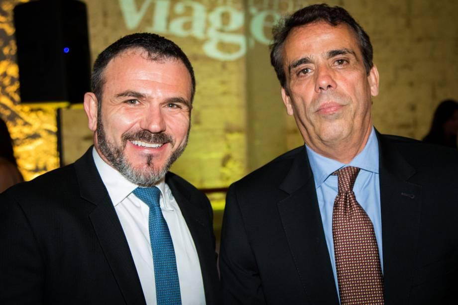 Jair Pasquini, da BNT Mercosul, e Paulo Vilella, diretor de marketing da Riotur
