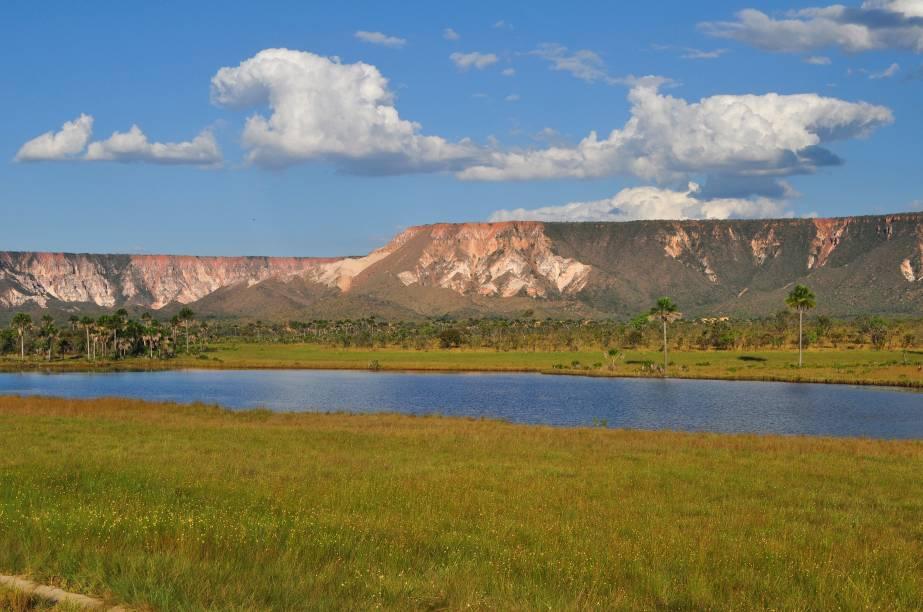 Vista do Parque Estadual do Jalapão, no Tocantins; o cenário da região é tão diverso que é possível explorar chapadões, dunas, cachoeiras e praticar trilhas