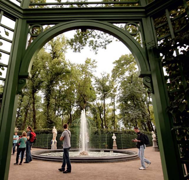 Jardim de Verão em São Petersburgo, na Rússia