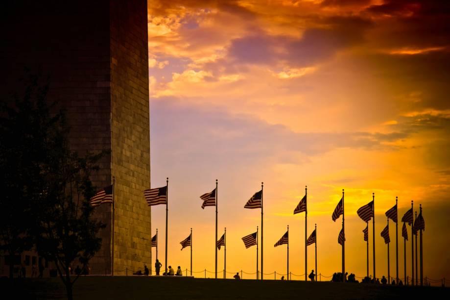 Washington Memorial, no centro do National Mall