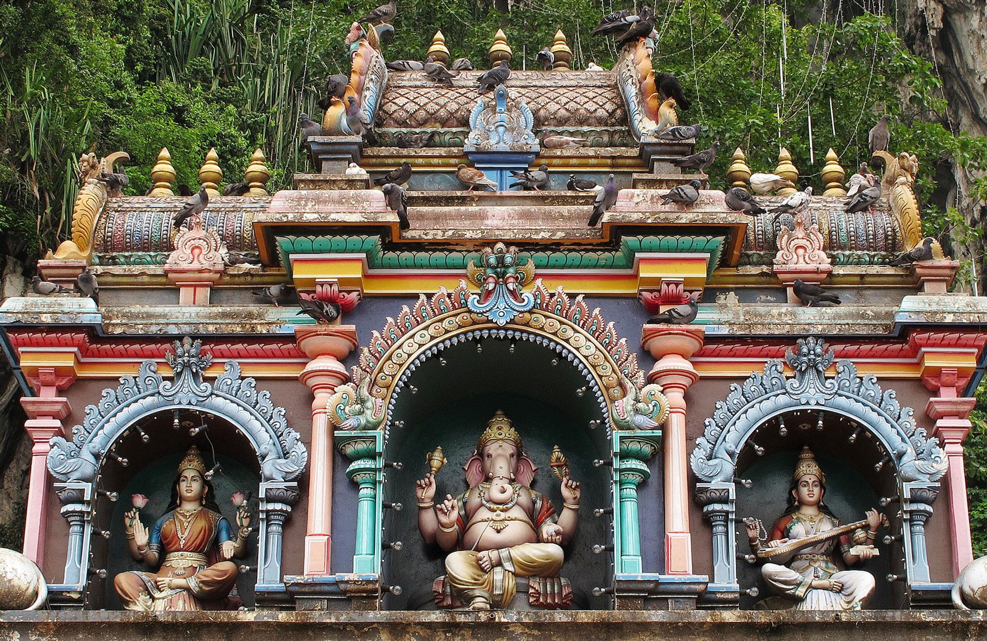 Kuala Lumpur, Hindu Temple at Batu Caves