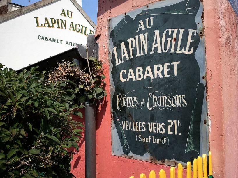 Um dos mais antigos bar-cabarés de Paris, o Au Lapin Agile fica no coração boêmio de Montmartre