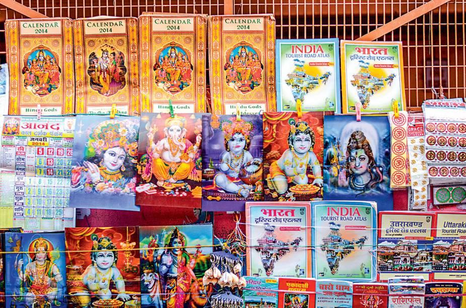 Krishnas e Ganeshas holográficos à venda