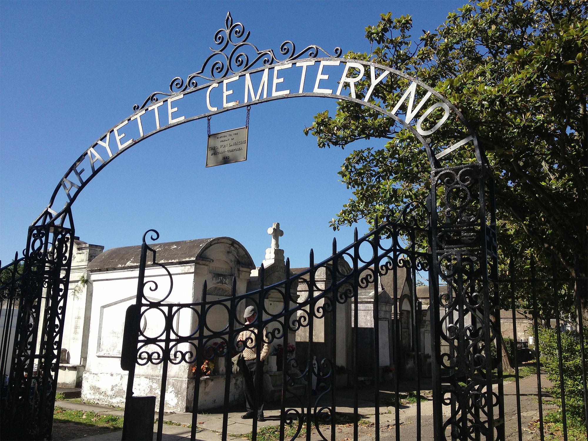 Lafayette Cemetery No 1 em Nova Orleans, Estados Unidos