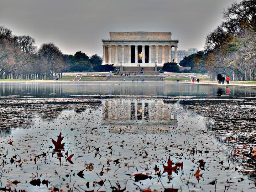 Lincoln Memorial, em Washington DC, erigido em homenagem ao presidente que aboliu a escravatura nos EUA