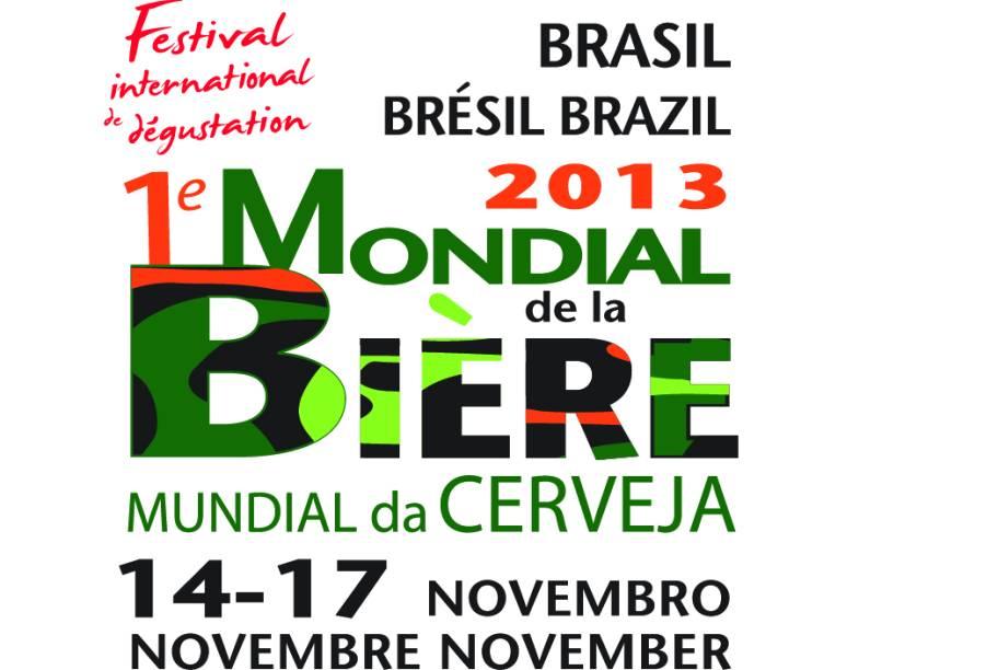 Logo do Festival Mundial da Cerveja de 2013, o Mondial de La Bière, o primeiro a ser realizado no Brasil, no Rio de Janeiro