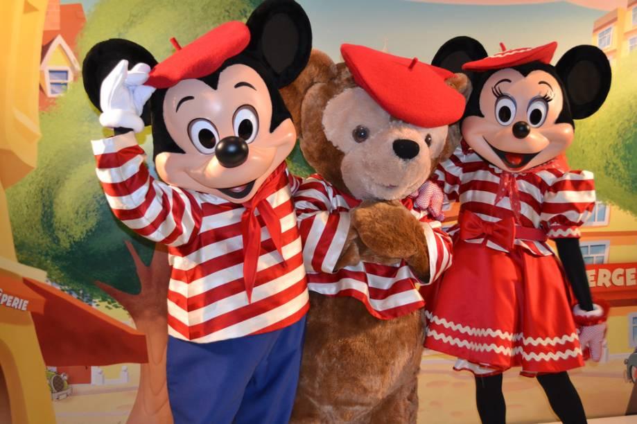 Mickey e Minnie na Disneylândia de Paris