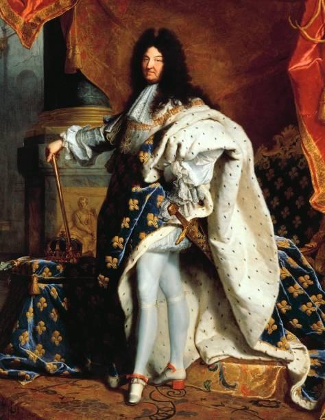 Retrado do rei-sol Luis XIV (detalhe), de Hyancithe Rigaud, no Museu do Louvre