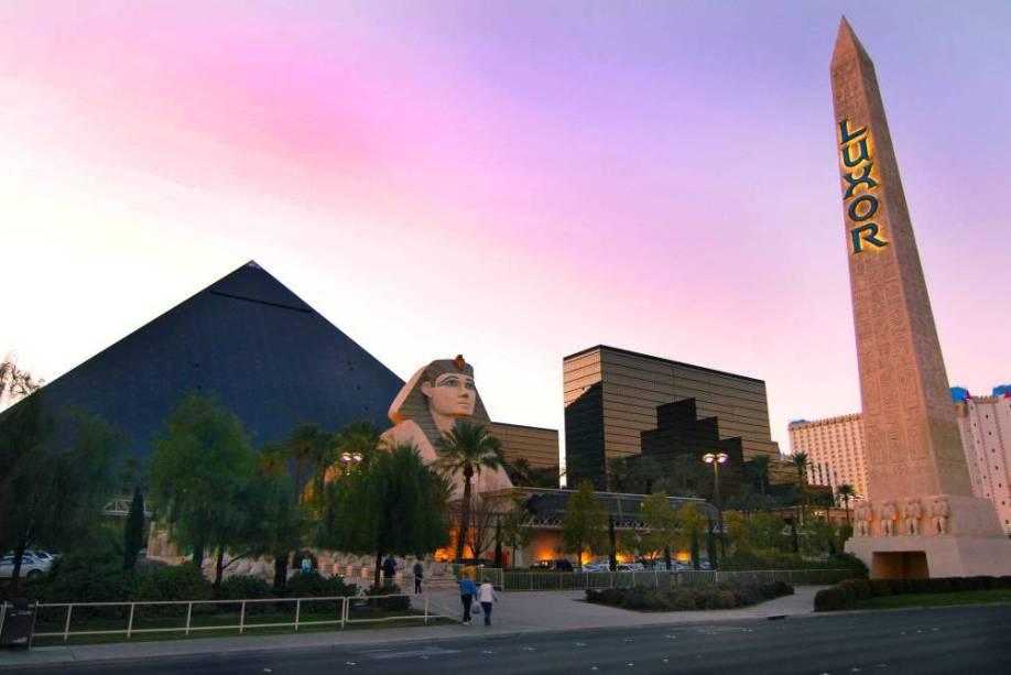 Tem até um pedacinho de Egito no hotel Luxor, em Las Vegas.