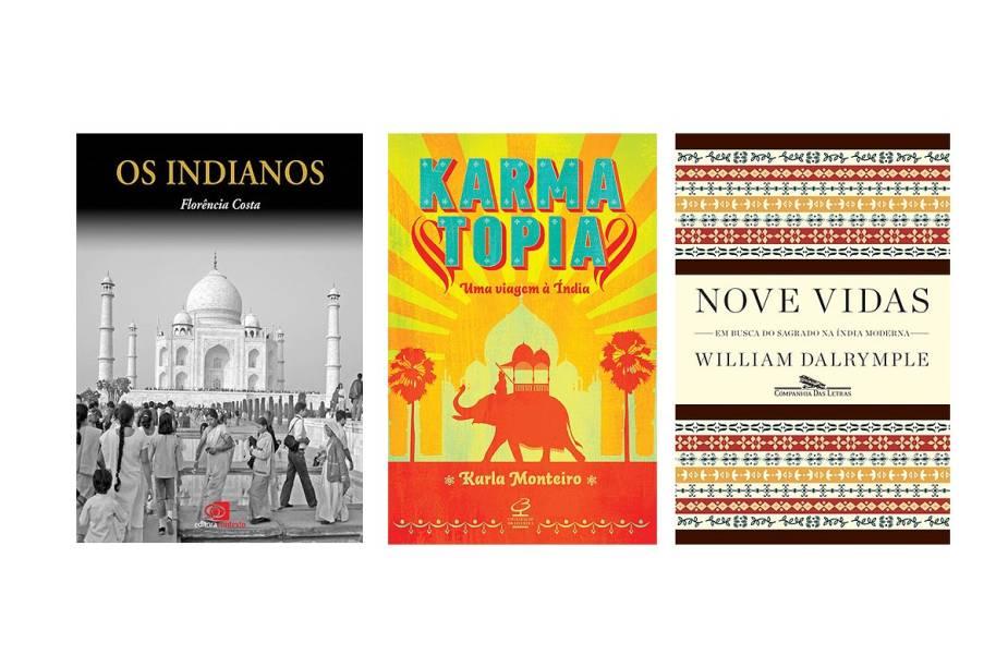 Três livros sobre a Índia: Os Indianos, Karmatopia e Nove Vidas