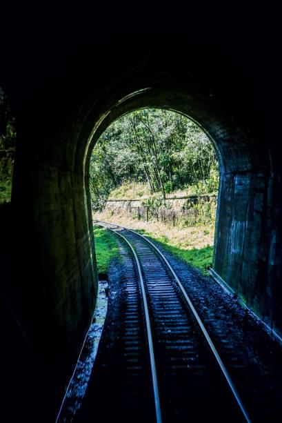 Um dos muitos túneis