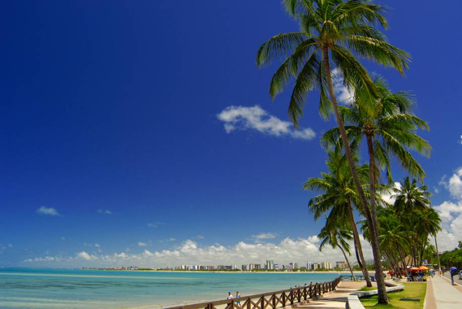 Ponta Verde é a melhor praia da orla urbana de Maceió (AL), cheia de coqueiros e com um mar verde-claro. Quando a maré baixa, piscinas naturais formam-se próximas à faixa de areia