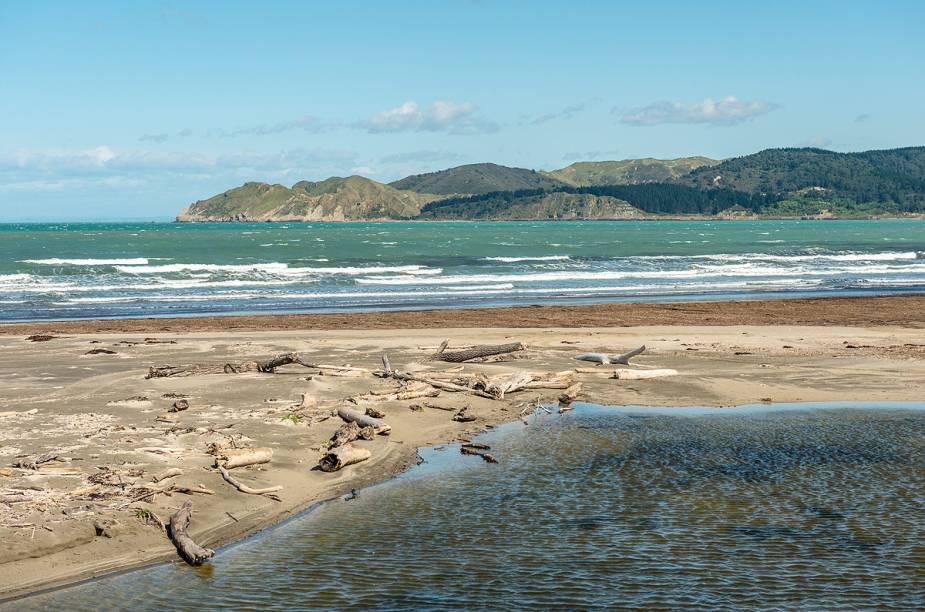 Praia Mahia, uma das dezenas de Gisborne