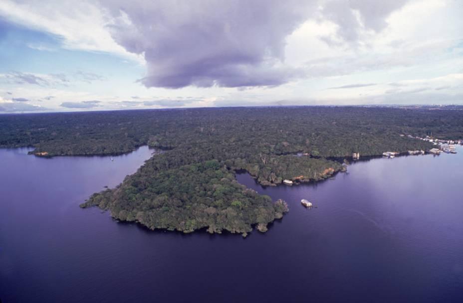 Arquipélago de Anavilhanas, em Manaus (AM)