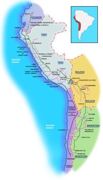 """Qhapaq Ñan em quéchua significa """"Caminho Real"""". Em seu auge, ele consistia em quase 40 mil km de estradas que tinham função de comunicação, comércio e defesa de imenso território. Construída pelos Incas durante séculos e parcialmente baseada em infraestrutura pré-incaica, essa rede corta e dá acesso a uma das zonas geográficas mais extremas do planeta, passando por montanhas cobertas de neve na Cordilheira dos Andes (alguns trechos estão a 6 mil metros de altitude!), levando à costa do Pacífico, cortando a floresta amazônica, vales férteis e o deserto mais árido do mundo, o Atacama"""