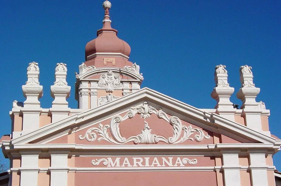 Fachada de uma das construções históricas de Mariana (MG)