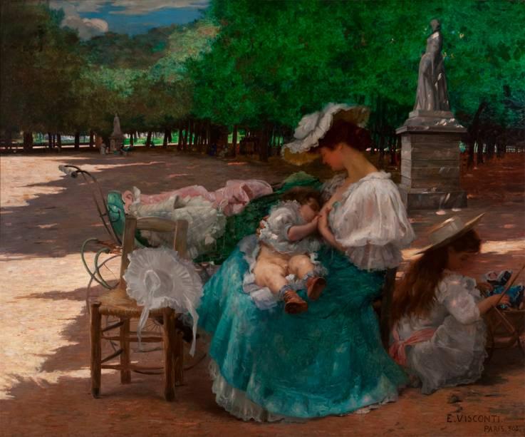 Maternidade (1906), obra do artista italiano Eliseu Visconti