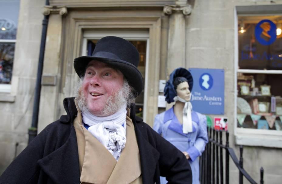 Jane Austen Centre, em Bath, relembra a grande autora de clássicos como <em>Orgulho e Preconceito</em>