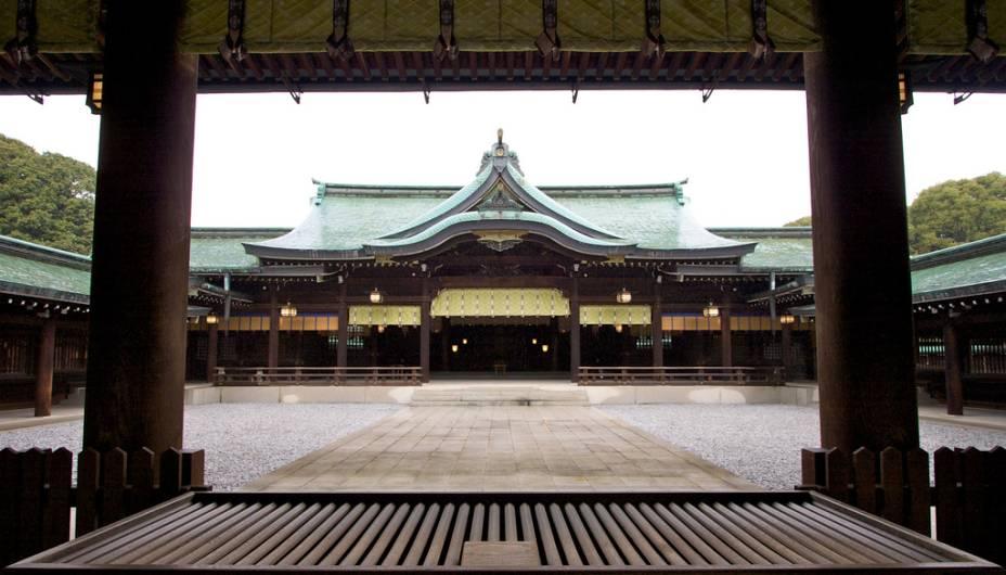 Recinto principal do Meiji Jingu, santuário xintoísta dedicado ao imperador Meiji, que começou a modernização do Japão no século 19