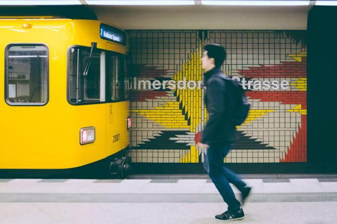 Metrô em Berlim, na Alemanha
