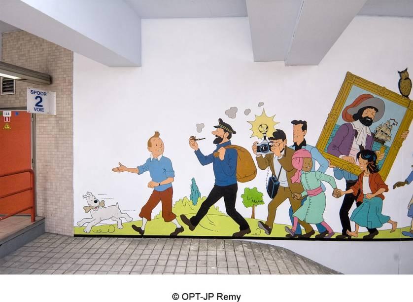 Símbolo maior da paixão dos belgas por quadrinhos, o personagem Tintin, de Hergé, já teve seus livros traduzidos para dezenas de idiomas e suas histórias deram origem a filmes e seriados de TV