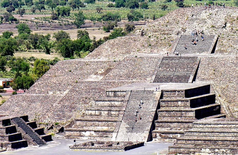 Pirâmide da Lua, em Teotihuacan