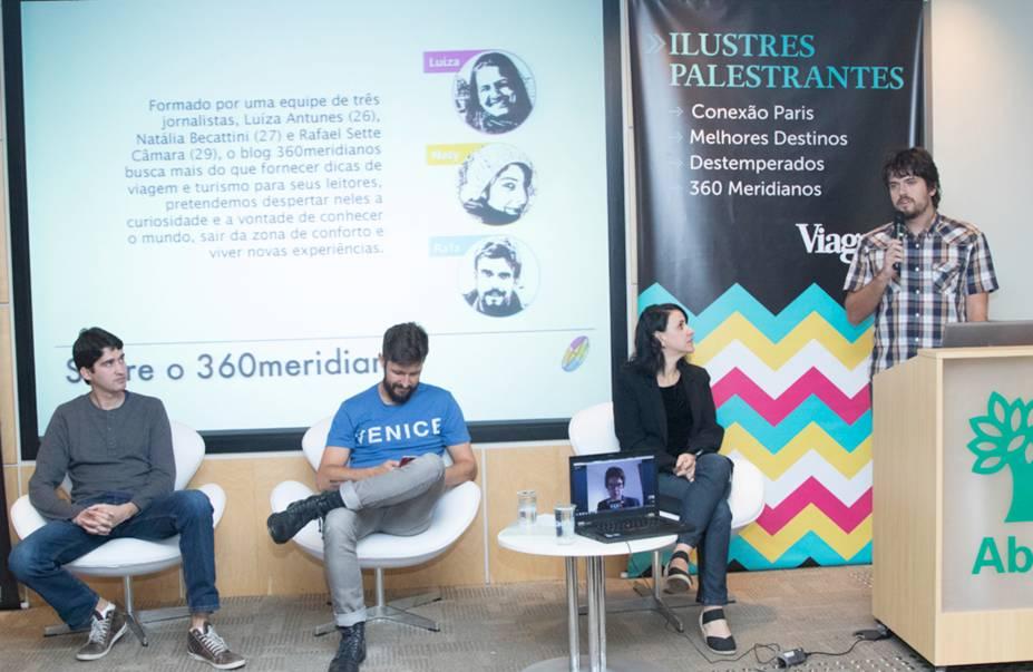 """""""Sem leitor não há blog. O primeiro passo sempre é consolidar a audiência"""", aconselhou Rafael Sette, do <strong>360 Meridianos</strong>"""