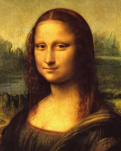 Detalhe da Mona Lisa (ou La Gioconda), Leonardo da Vinci, Museu do Louvre