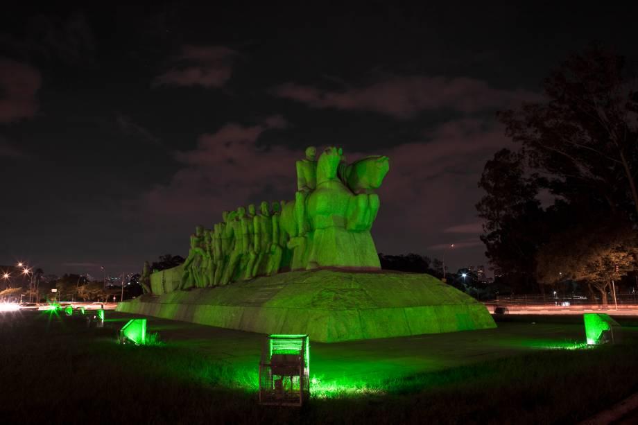 <strong>São Paulo (SP) — Monumento às Bandeiras</strong>A obra do escultor ítalo-brasileiro Victor Brecheret é iluminada pelo segundo ano consecutivo