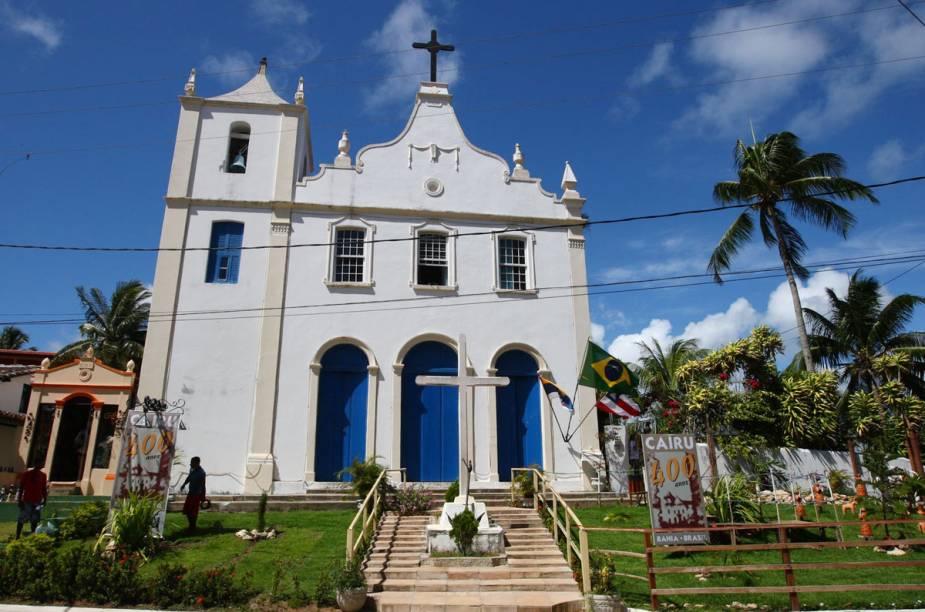 A igrejinha de Morro de São Paulo fica logo na entrada da ilha e recebe os visitantes recém-chegados