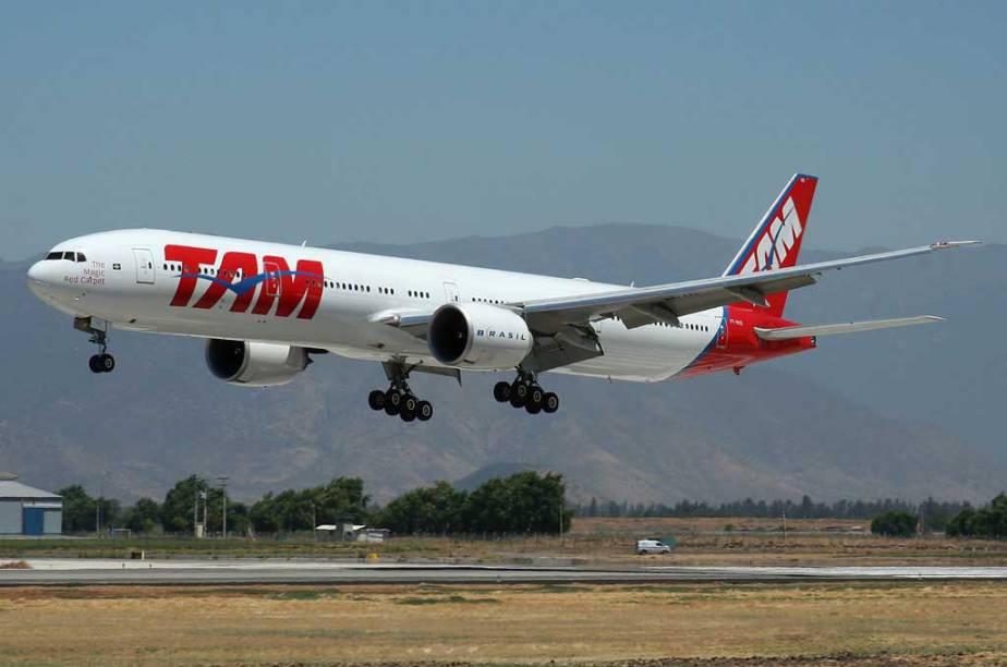 A companhia TAM ficou em segundo lugar entre as companhias sul-americanas, atrás da parceira chilena LAN